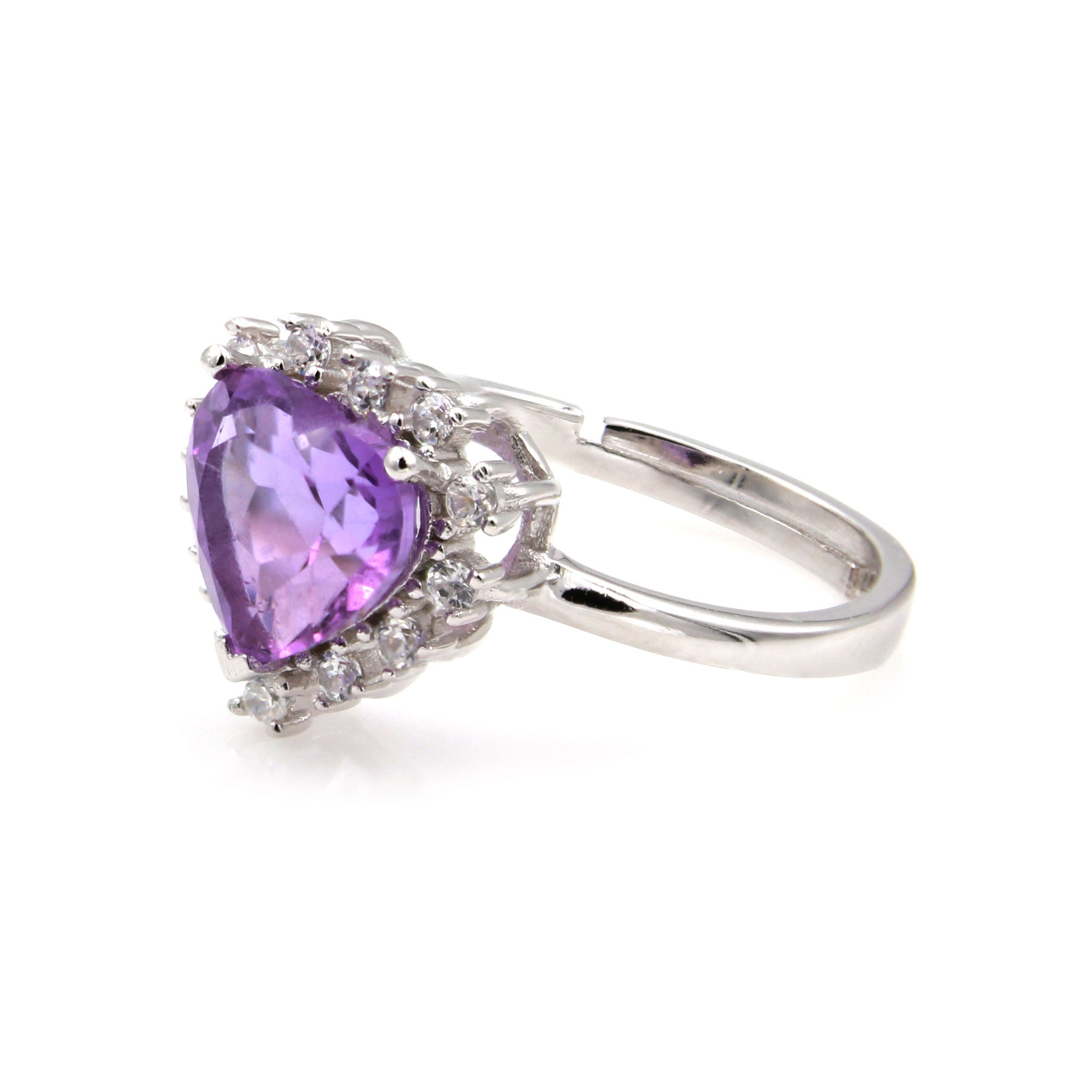 rings elegant with white diamond gold heart amethist ring free shaped diamonds amethyst of engagement and