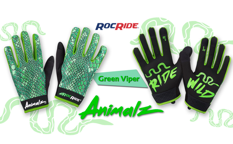 RocRide Animalz Green Viper Full Finger Gloves