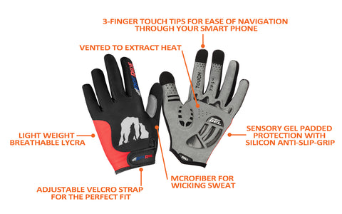 RocRide Evolution Cycling Gloves and Biking Gloves Full Finger