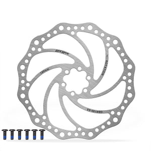 RocRide Disc Brake Rotor for Bikes Stainless Steel 160mm 180mm 203mm with 6 Bolts.
