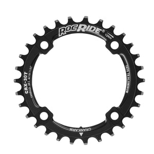 RocRide Narrow Wide Chainring 104 BCD for 9/10/11 Speed, 30T Black