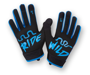 RocRide Animalz Blue Viper Full Finger Cycling Gloves, MTB, Road Biking and BMX