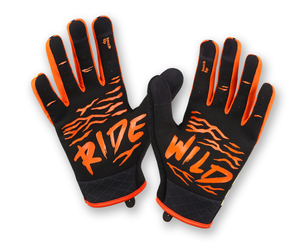 RocRide Animalz Tiger Full Finger Cycling Gloves, MTB, Road Biking and BMX