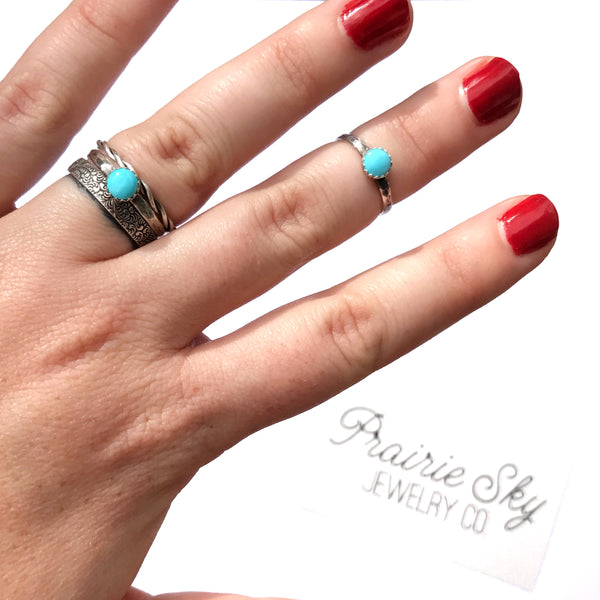 Tiny Turquoise Stacking Ring // Made to Order