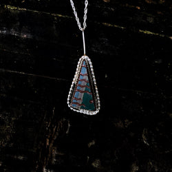 Vintage Navajo Pottery Teardrop Necklace