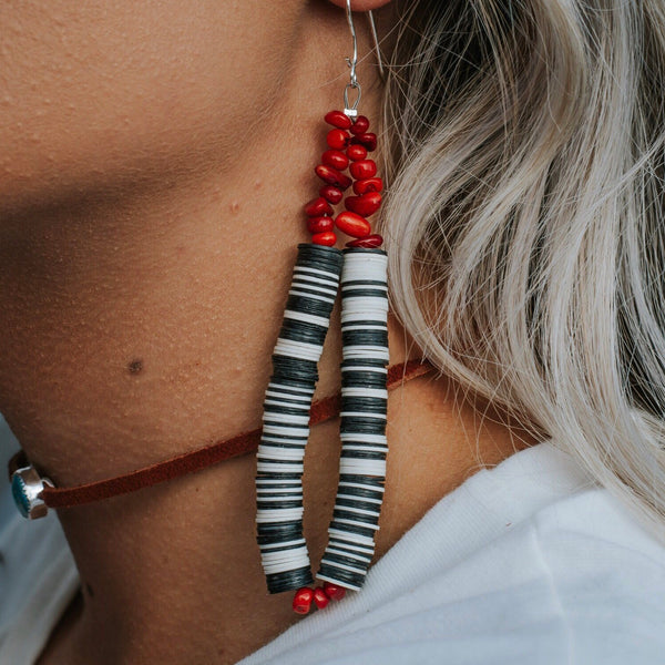 Puebla Earrings // Celestial Red