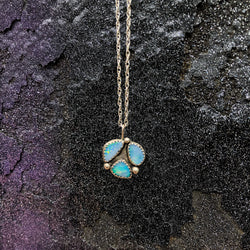 Cosmic Opal Trio Necklace