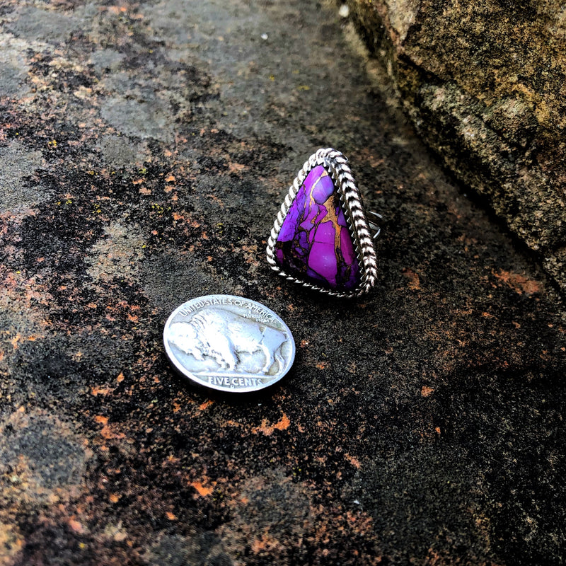 Purple Mojave Ring // Size 6.75