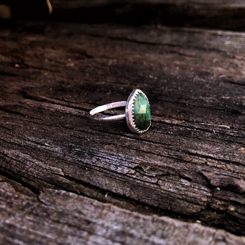 Faceted Emerald Ring // Made to Order