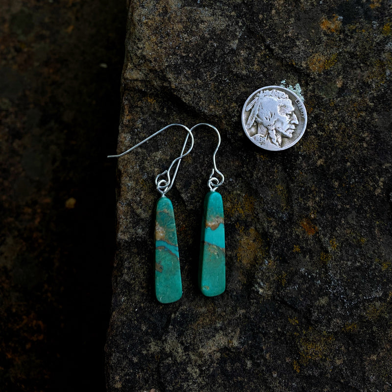 American Turquoise Slab Earrings