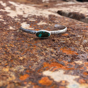 "American Turquoise + Sterling Stacking Cuff // 5.5-6"" Wrist"