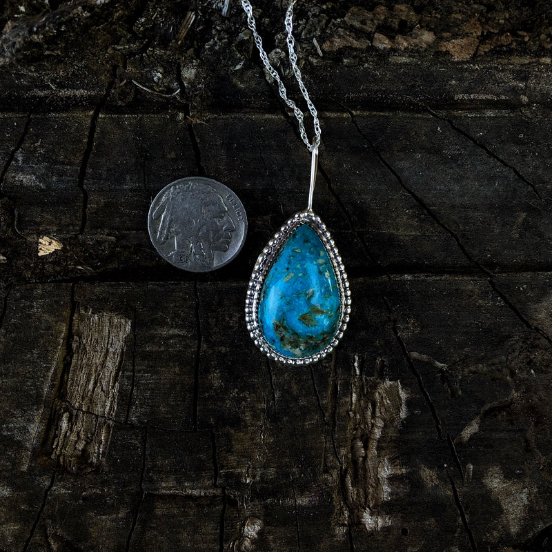 American Turquoise Teardrop Necklace
