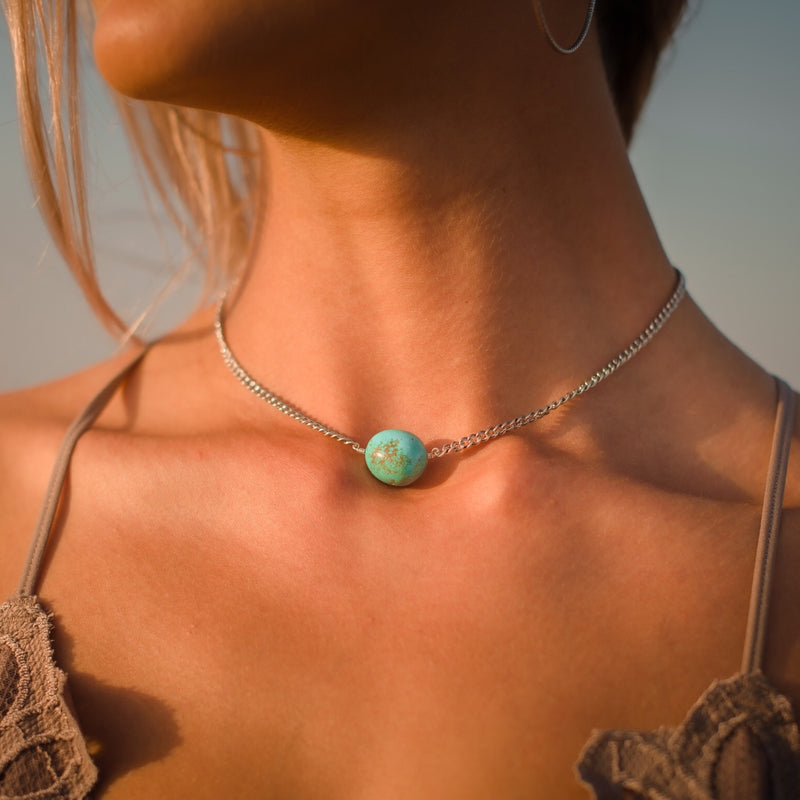 Carmen // Kingman Turquoise Nugget Necklace