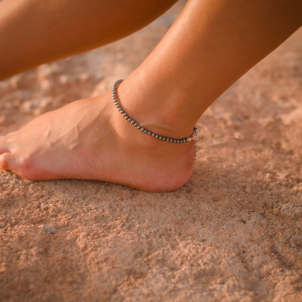 Navajo Pearl Beaded Anklet // Made to Order