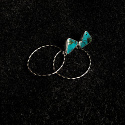 Campitos Turquoise Braided Hoop Earrings
