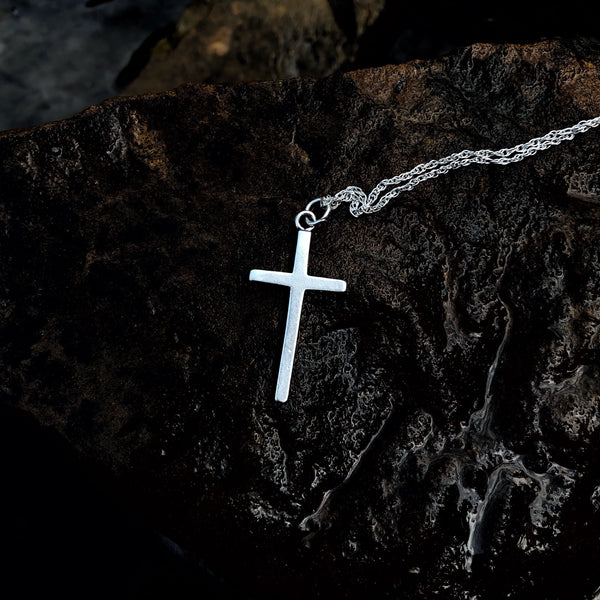 Classic Sterling Cross Necklace