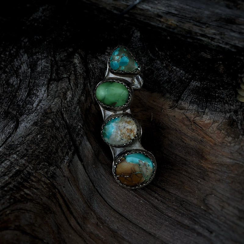 Royston Turquoise Half Ear Cuff // Right Ear