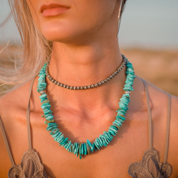 Isabella // Turquoise Nugget Necklace