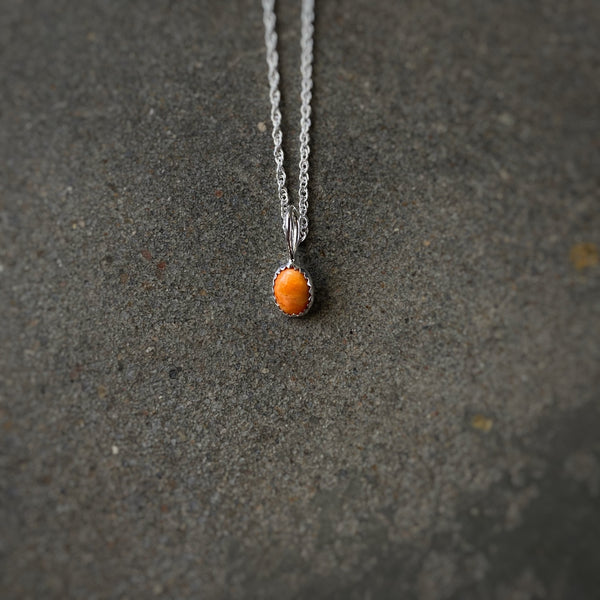 'Durango' // Dainty Spiny Oyster Necklace