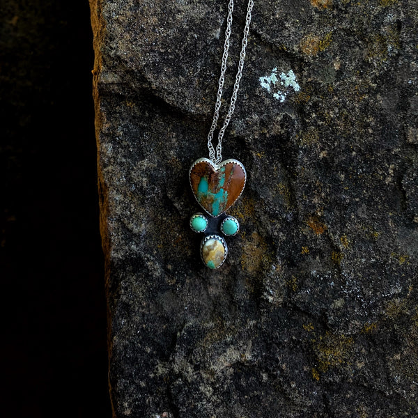 Royston Turquoise Bad Heart Necklace