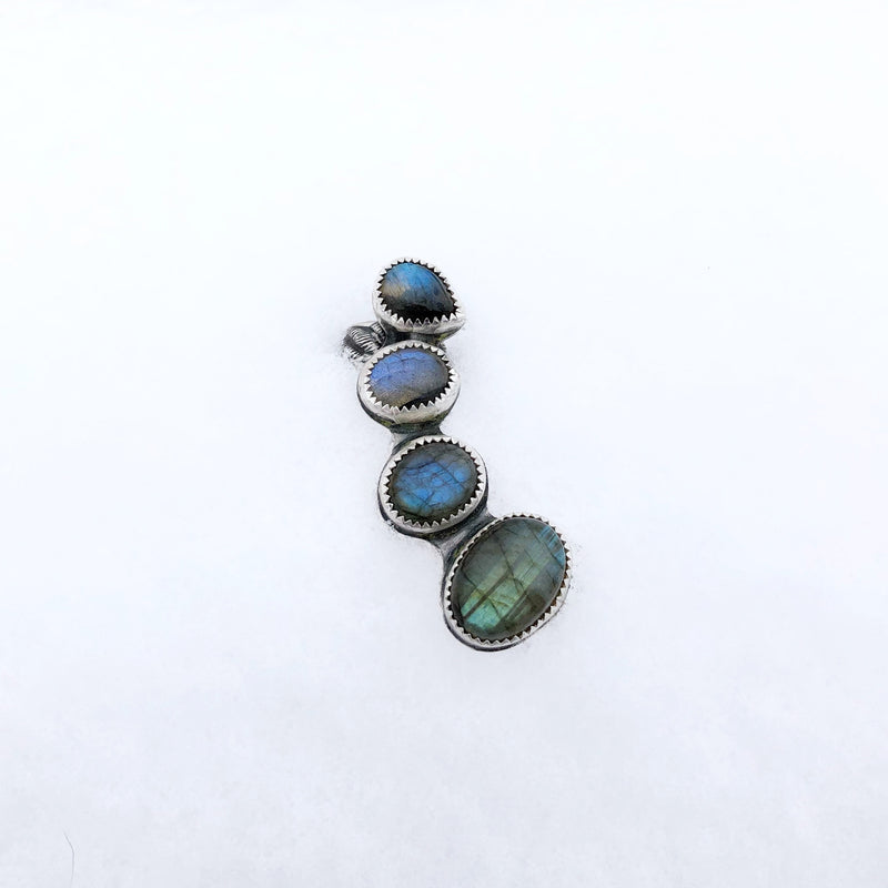 Labradorite Half Ear Cuff // Right