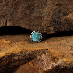 American Turquoise Ring // Size 9