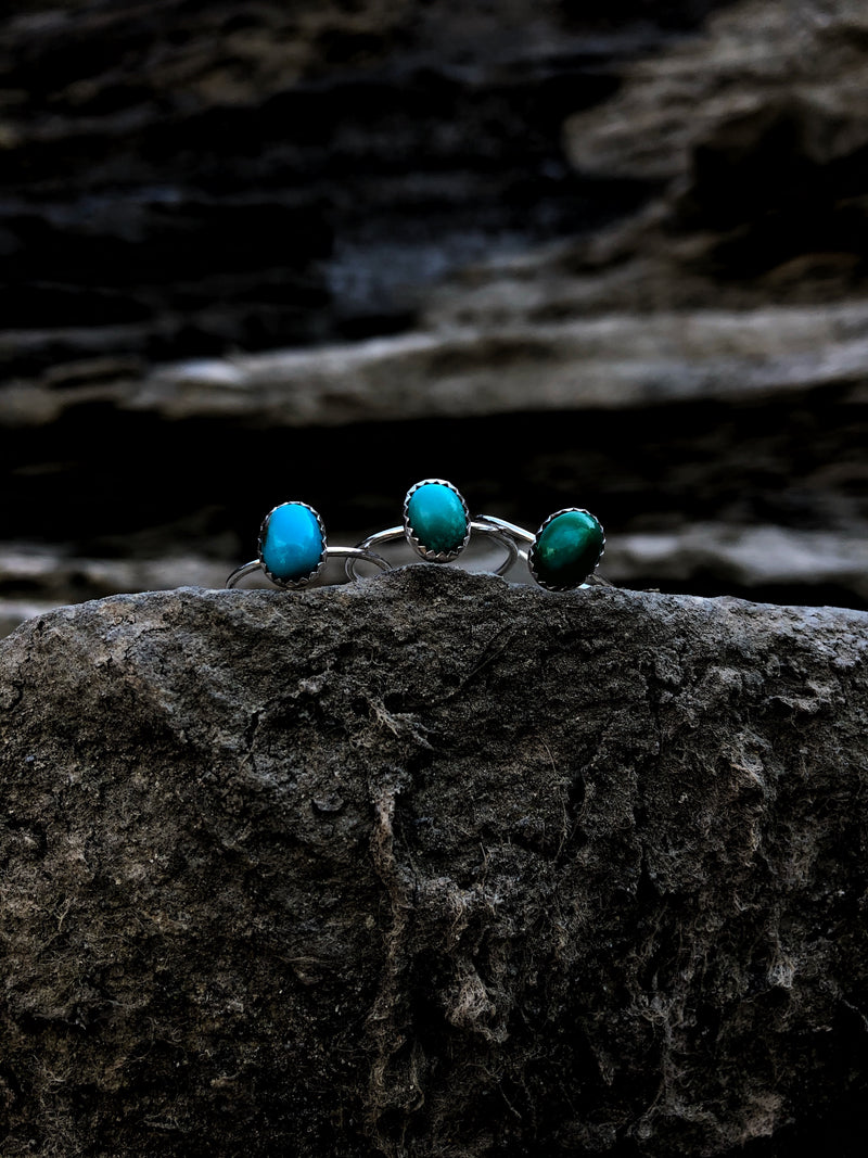 'Durango' Dainty Turquoise Stacking Ring // Made to Order