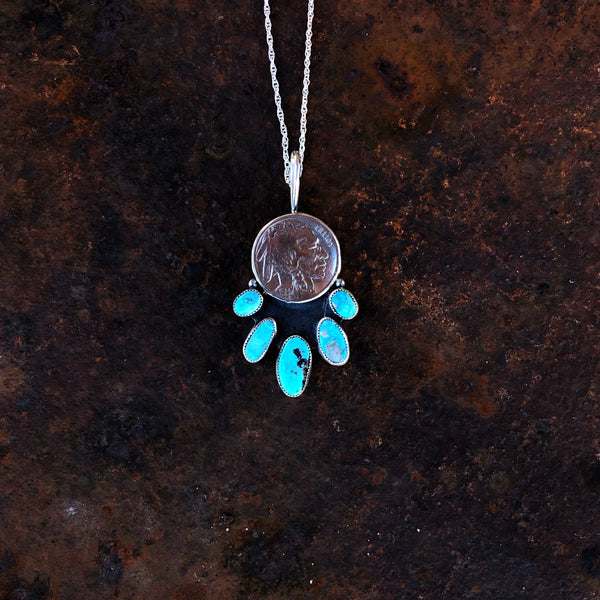 Five Tribes Buffalo Nickel Necklace