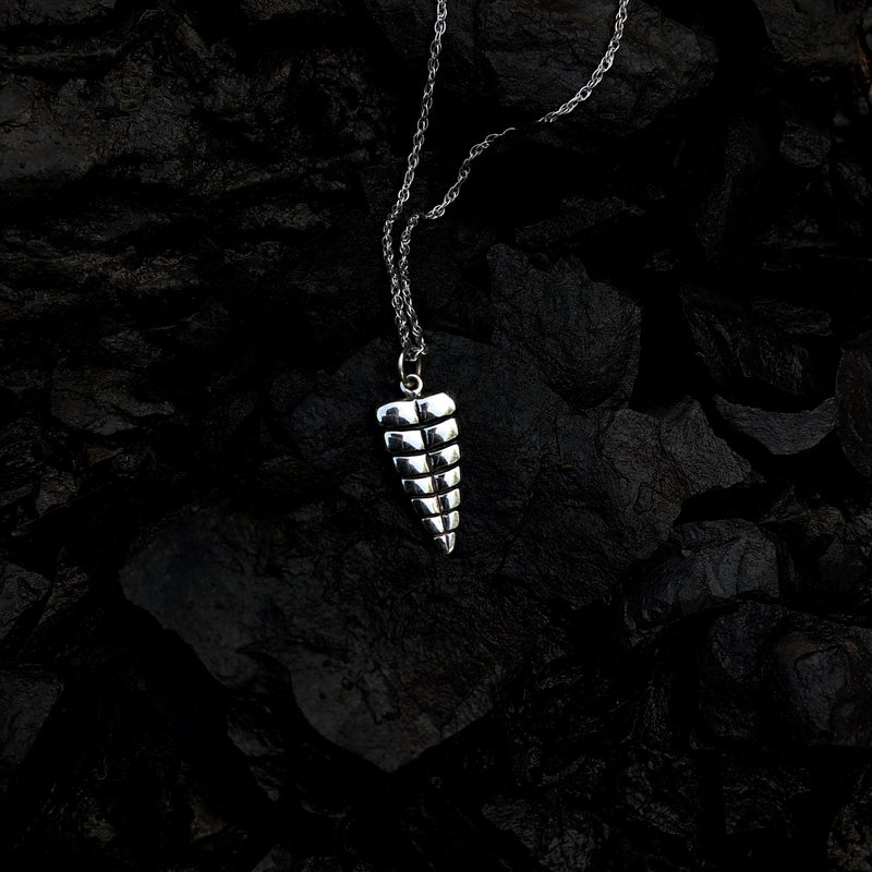 Sterling Silver Rattler Necklace