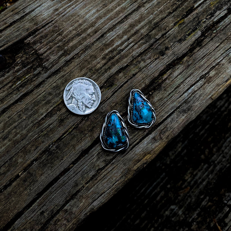 American Turquoise Chunky Studs