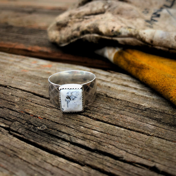 White Buffalo Men's Ring // Size 10