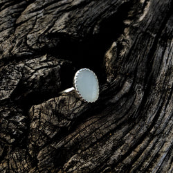 Faceted Moonstone Ring // Size 5