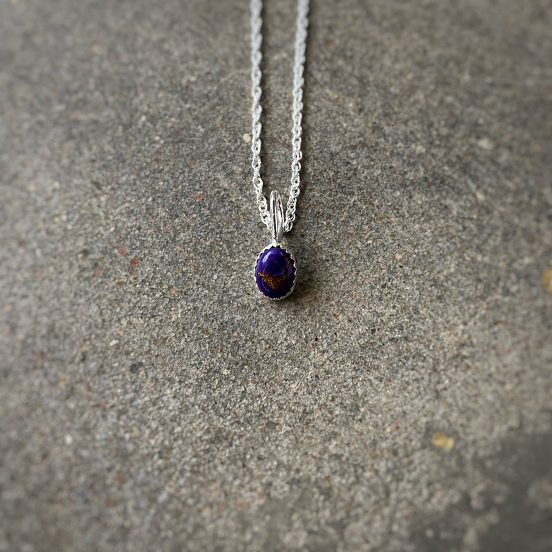 'Durango' // Dainty Purple Mojave Turquoise Necklace
