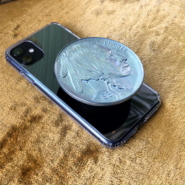 Buffalo Nickel Phone Grip