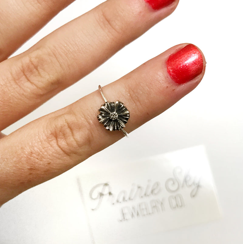 Tiny Sunflower Ring // Made to Order