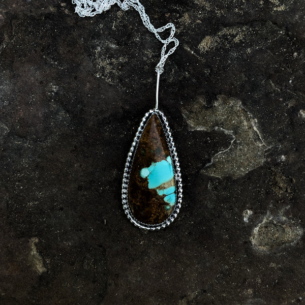 Royston Turquoise Teardrop Necklace