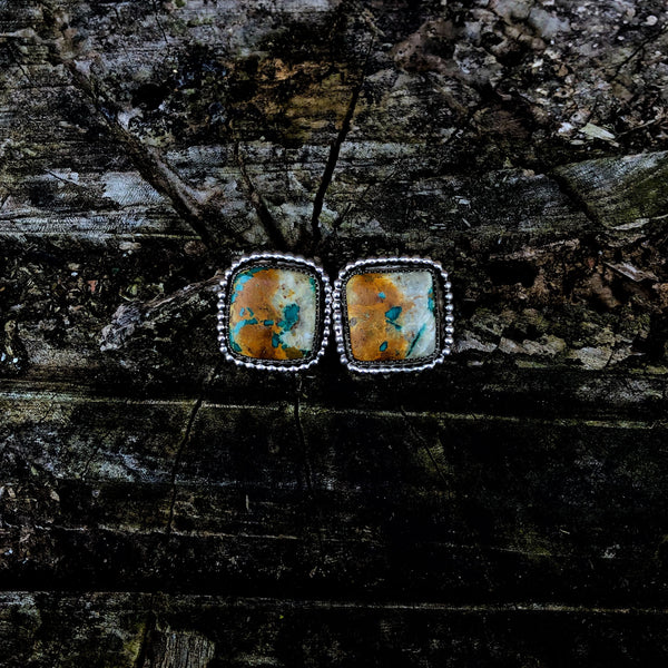 Royston Ribbon Turquoise Chunky Studs