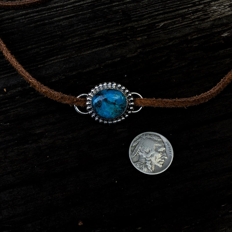 American Turquoise Wrap Choker