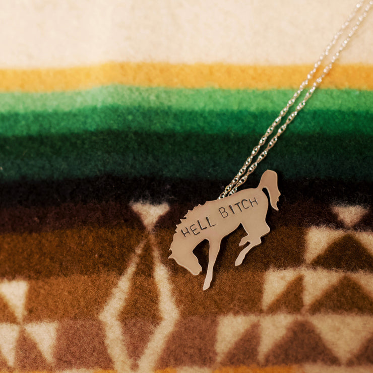 """Hell Bitch"" Buckin' Horse Necklace // Made to Order"