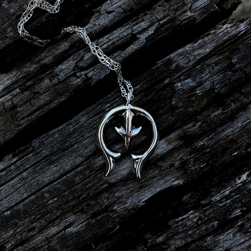 Dainty Sterling Naja Necklace