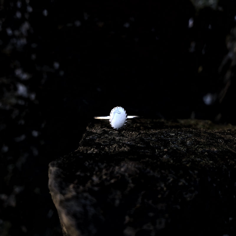'Durango' White Buffalo Stacking Ring // Made to Order