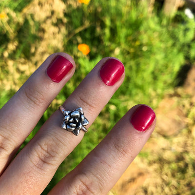 Succulent Stacking + Midi Ring // Size 5