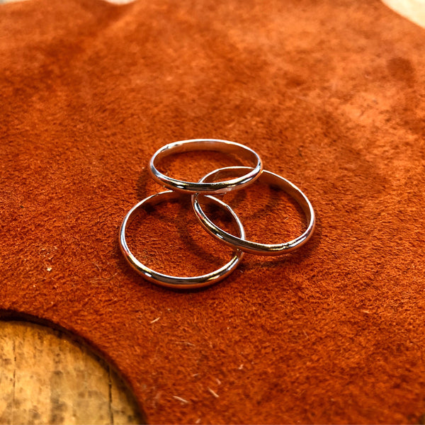 Simple Sterling Stacking Ring // Made to Order