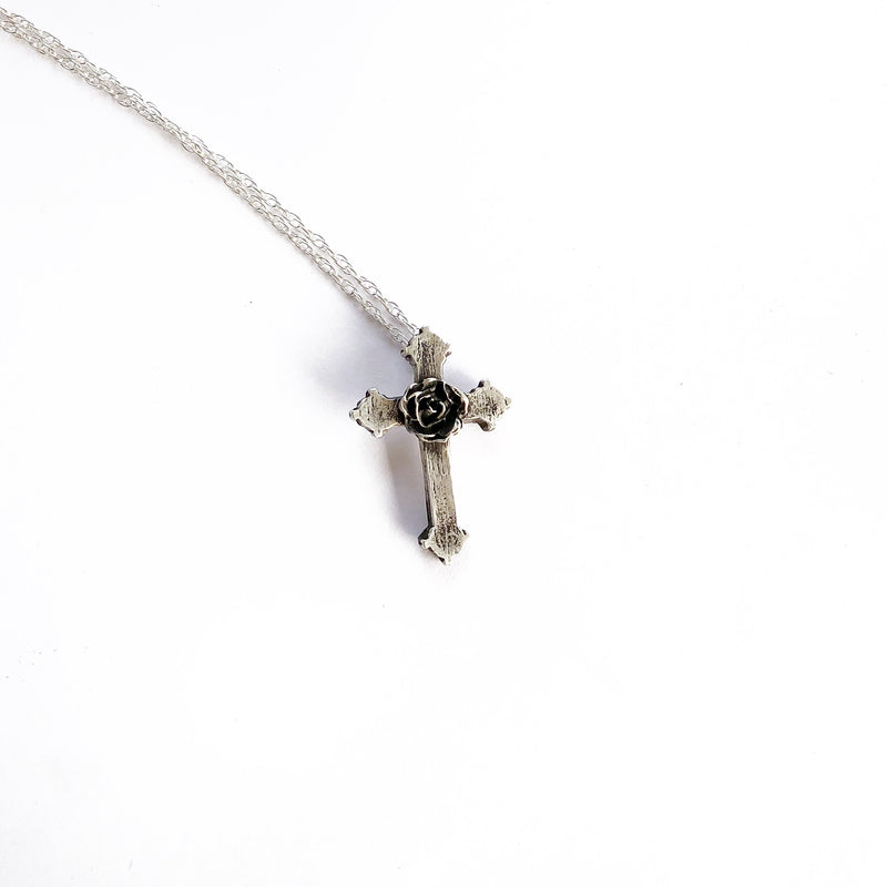 Sterling Rose Cross // Made to Order