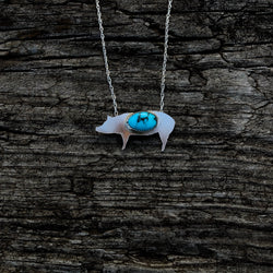 Sterling & Kingman Turquoise Pig Necklace