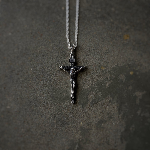 Sterling Silver Classic Crucifix Necklace
