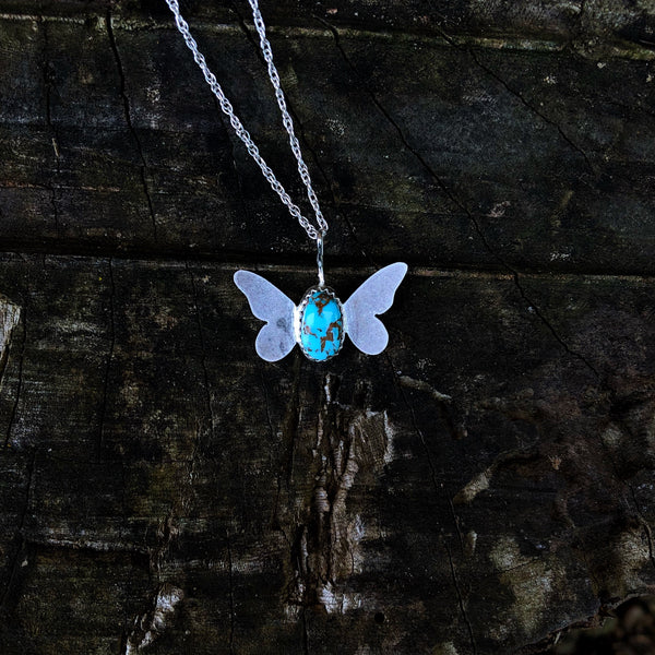 Royston Turquoise Butterfly Necklace