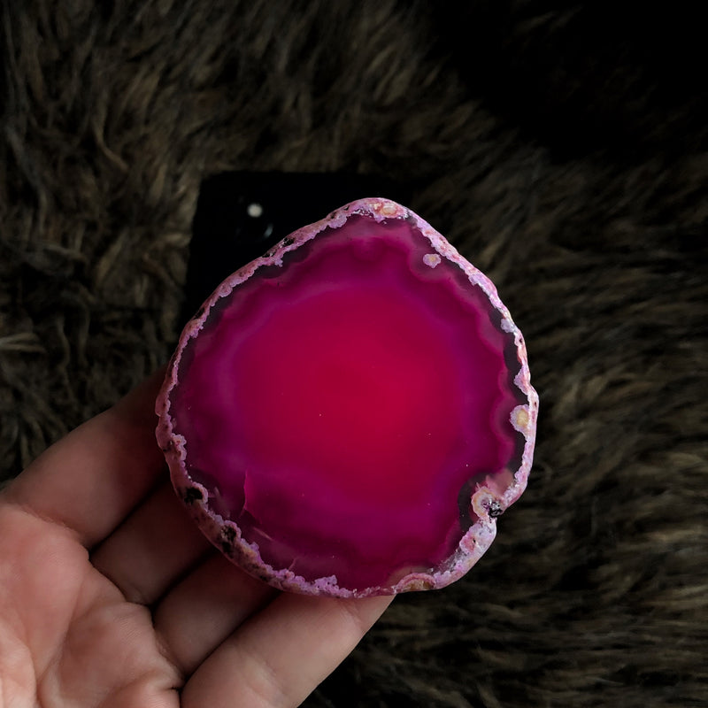 Pink Agate Phone Grip