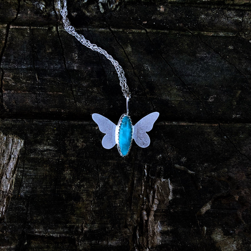 American Turquoise Butterfly Necklace