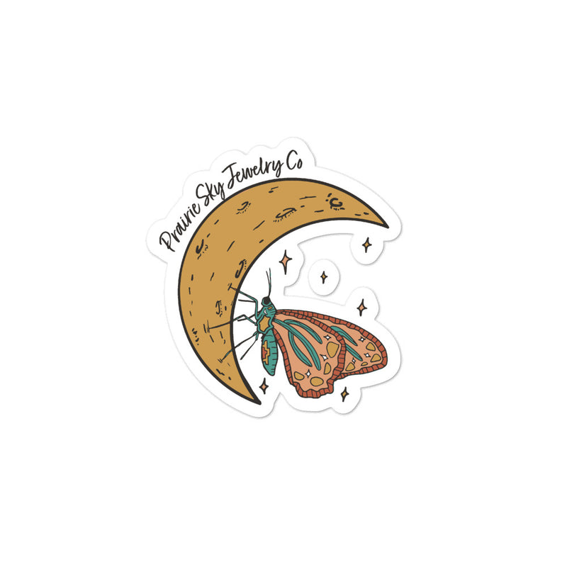 Butterfly Moon Sticker